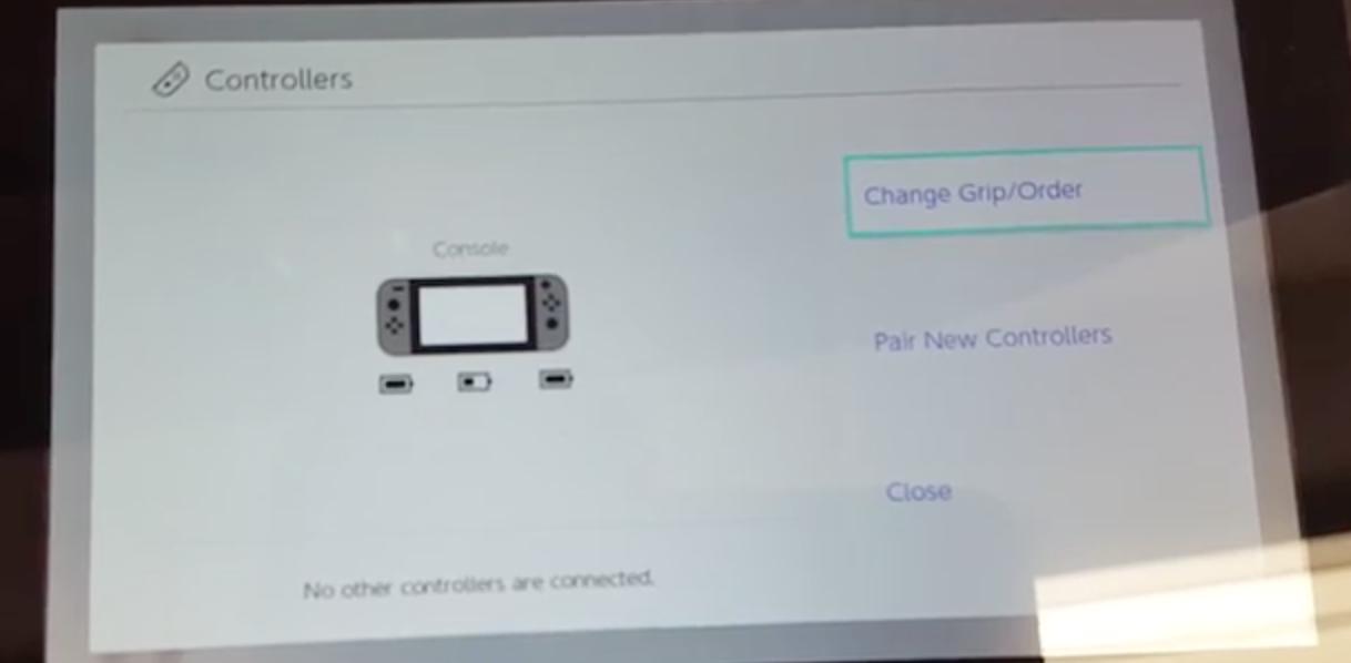 Switchコントローラー画面