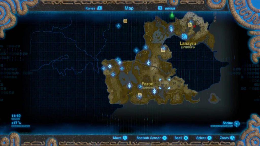 ゼル伝BOW12時間プレイしたマップ