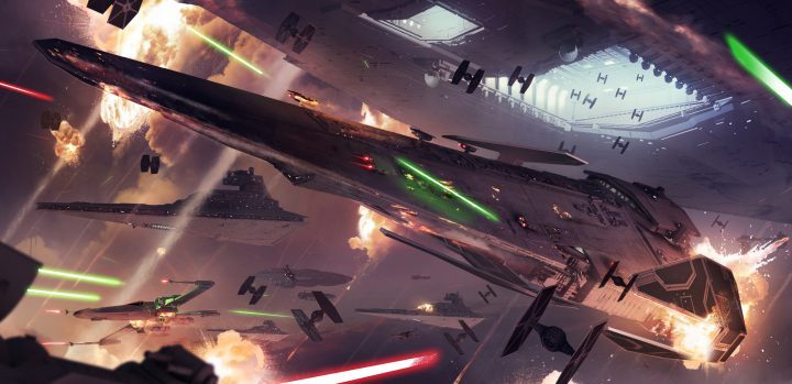スターウォーズバトルフロント2の宇宙戦闘シーン